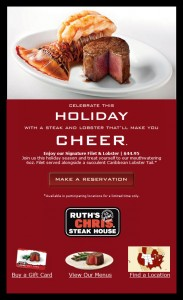 Ruth's Chris Email Newsletter
